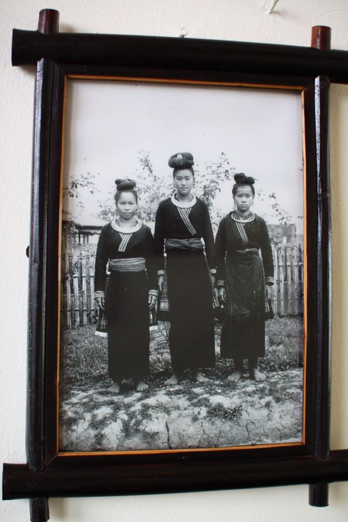 レンテン族の写真 藍染めの服 lenten in Laos