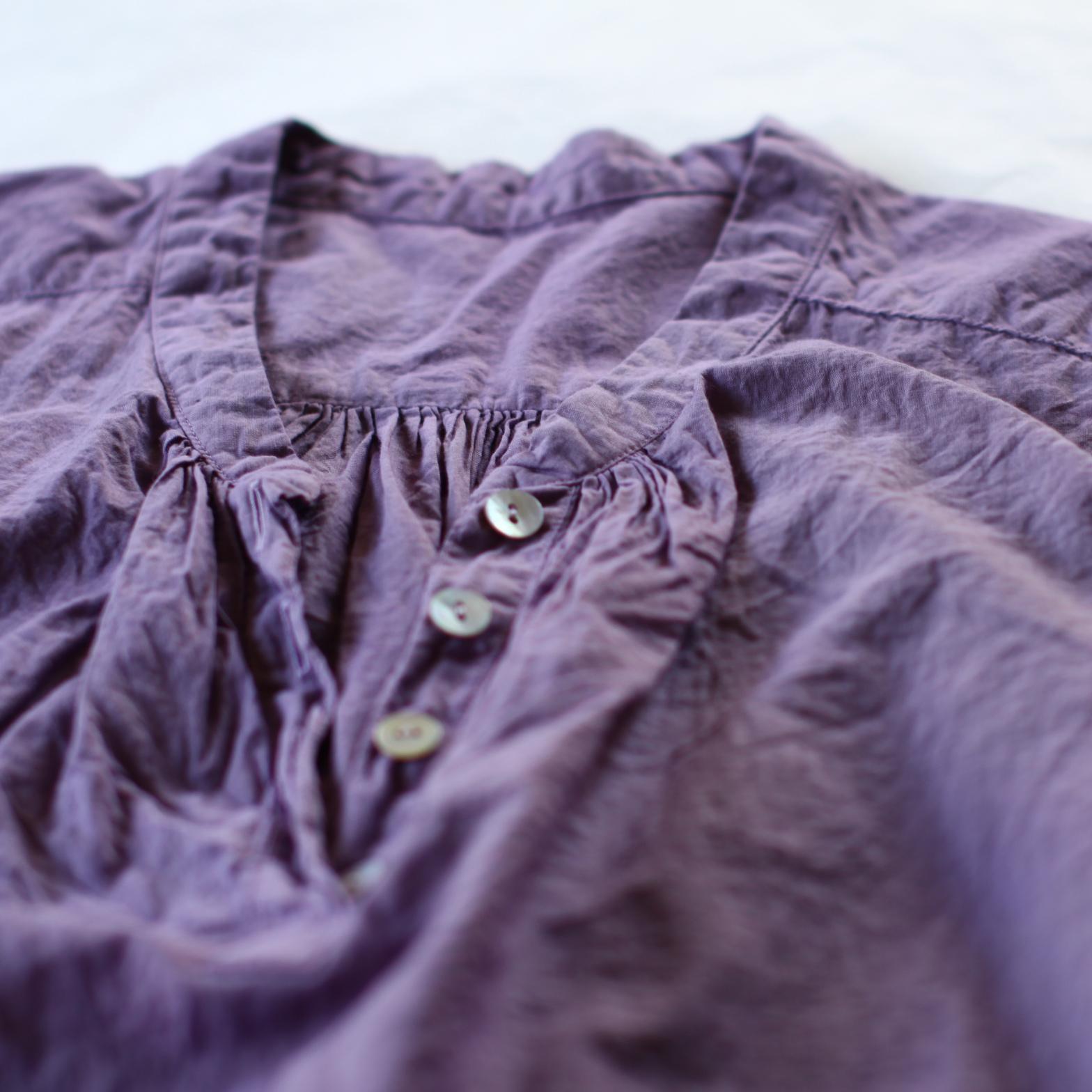 Organic cotton blouse オーガニックコットンのブラウス。今年も作りました。