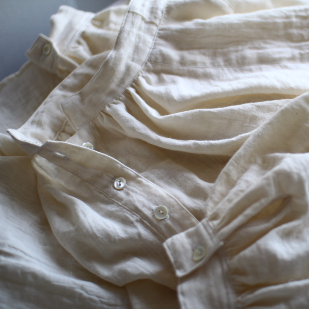 ダブルガーゼのブラウス double gauze blouse