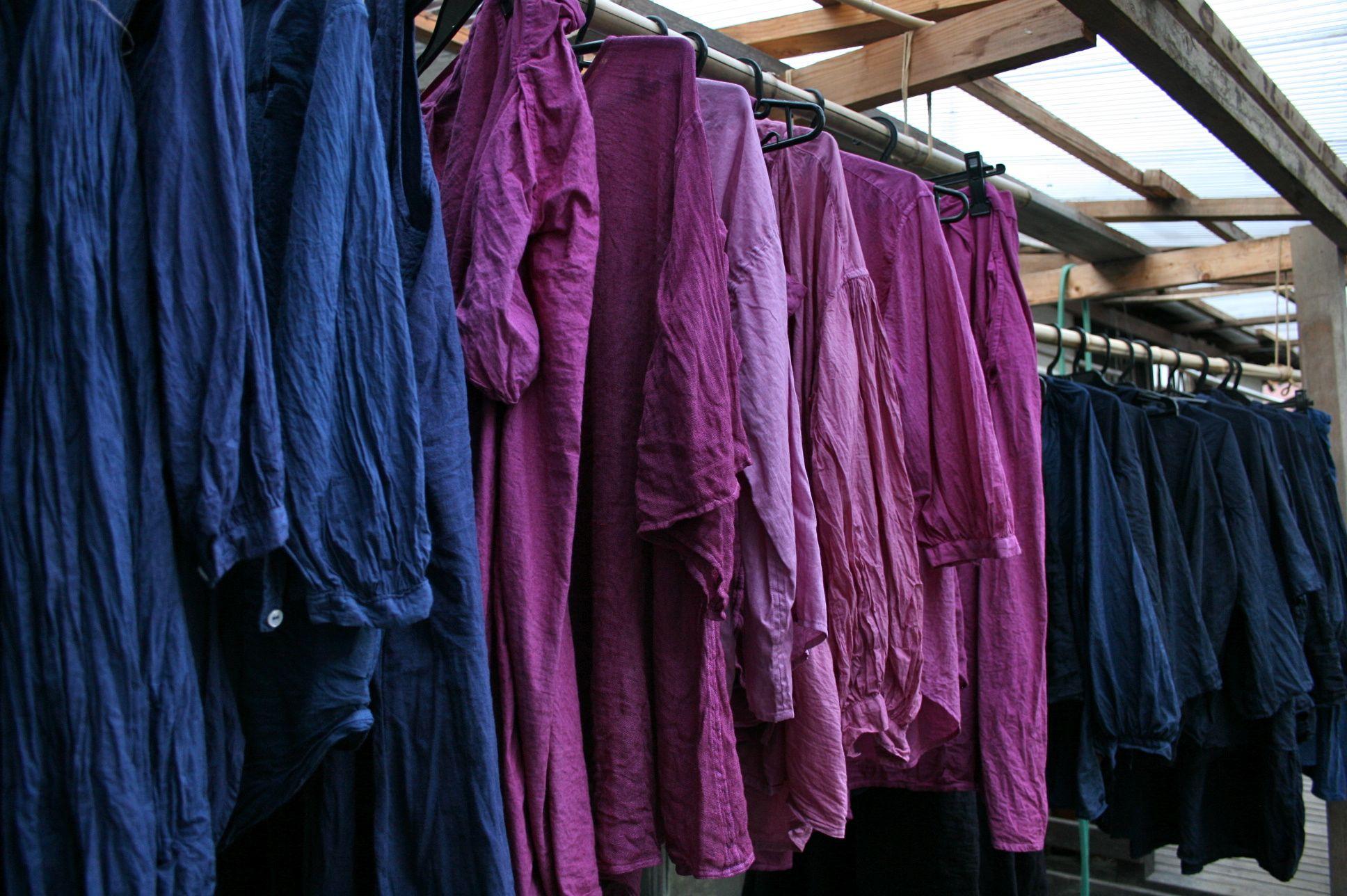草木染め 琉球藍 藍 染め コチニール ピンク natural dye cochinel pink indigo