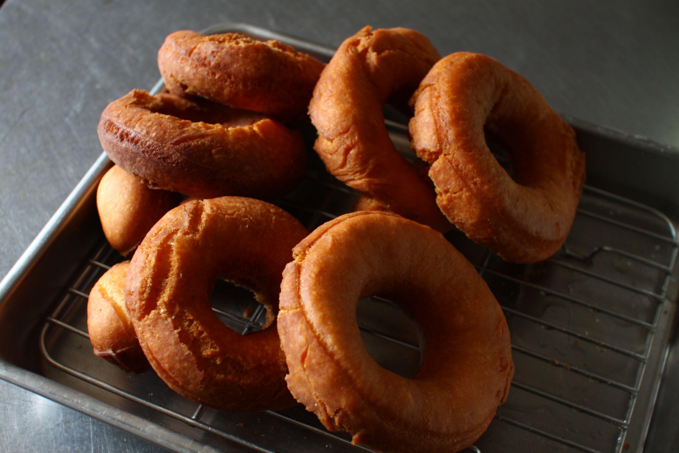 おやつに手作りドーナツ home made donut