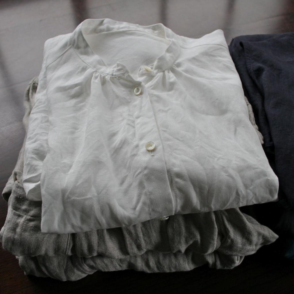リネンシャツとチュニックlinen blouse and shirt