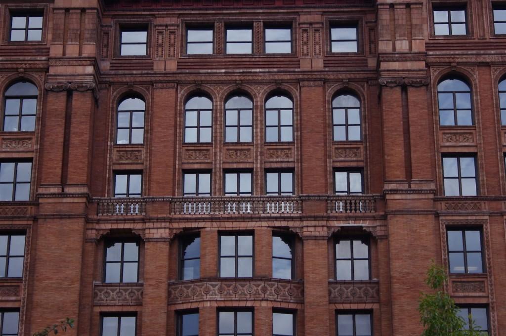 The Bourse Building レンガの美しい証券取引所(息子撮影)
