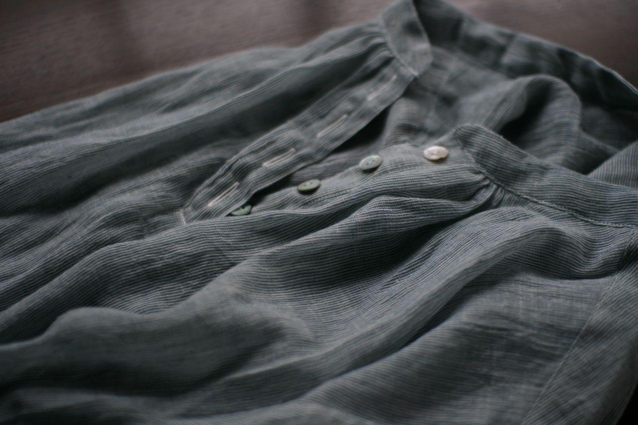 カディコットンのブラウス Khadi cotton blouse