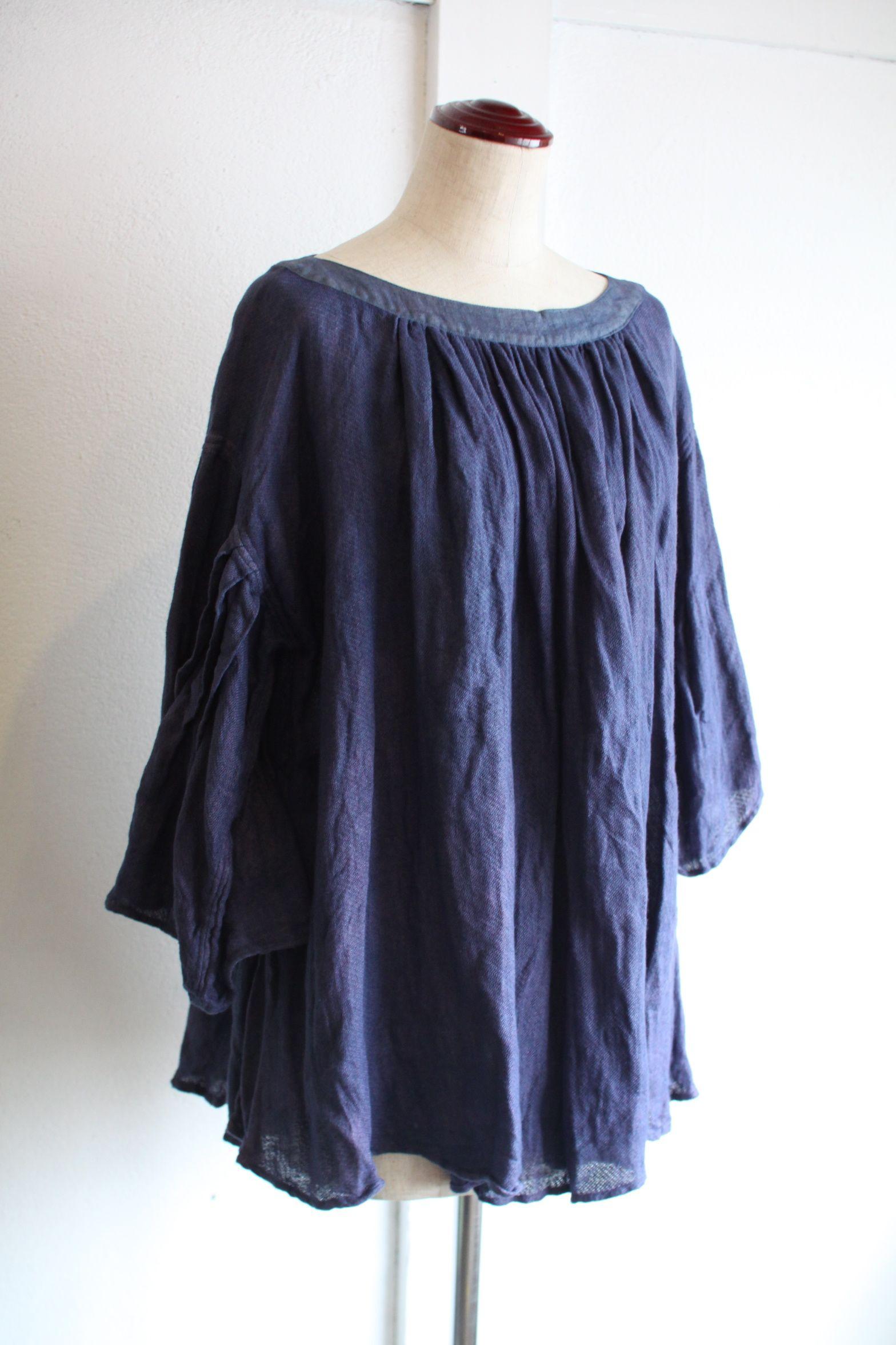 リネンガーゼのブラウス Linen gauze blouse