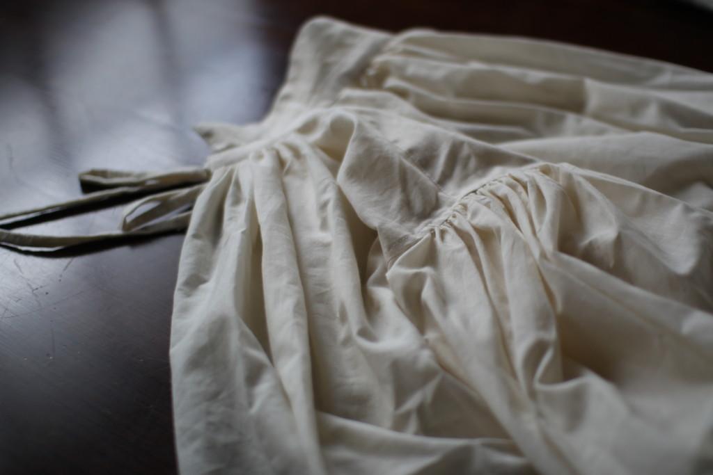 王子様ブラウスの試作。衿の辺りを直して着やすく。