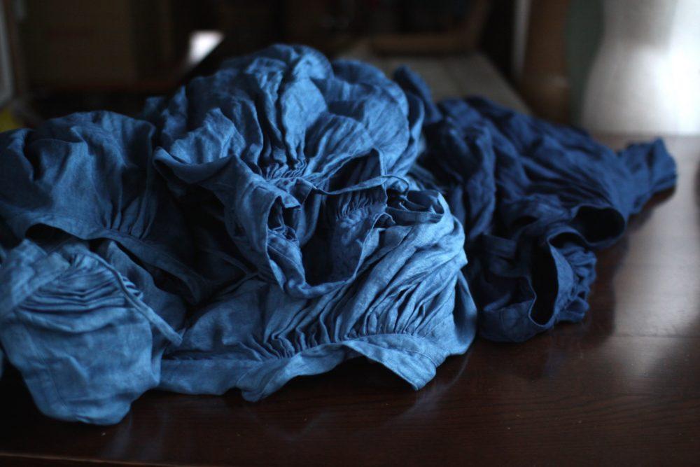 先日インド藍で染めたもの