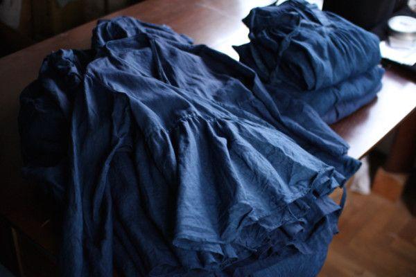 藍のカシュクールブラウス - 1