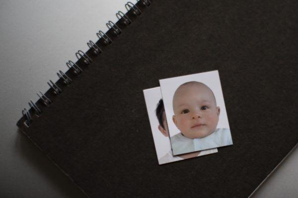 パスポートに使った写真