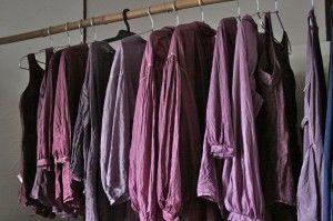 草木染め pink コチニールでピンクに染めたリネンの服 linen clothes dyes with cochineal.