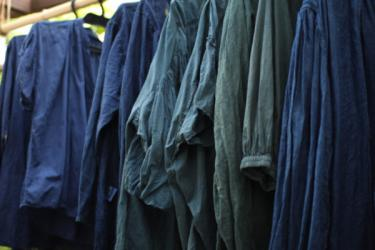 藍とミロバランのグリーン